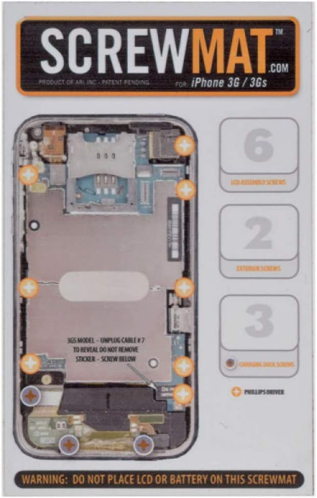 ScrewMat for Apple iPhone 3G 3GS with Glue Card