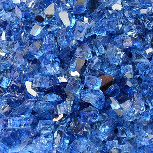 Stanbroil 10-Pound Fire Glass 1/4 Cobalt Blue Reflective for Fireplace Fire Pit (Cobalt Blue Crystal Bowl)