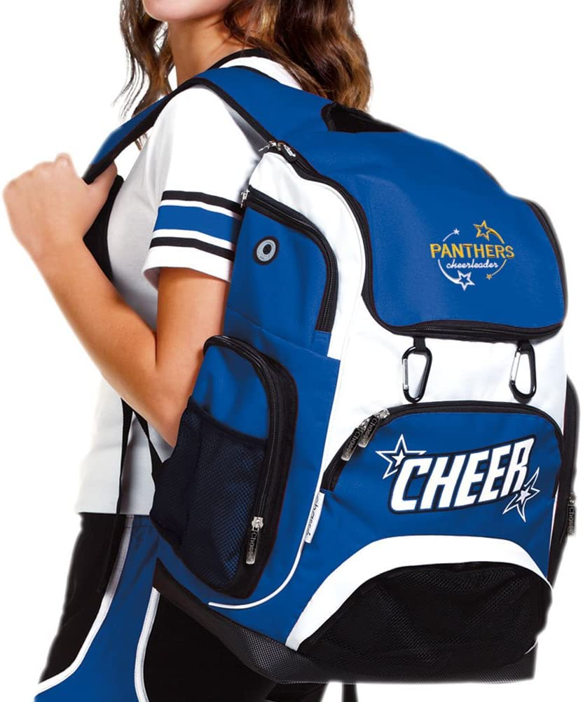 Chass/é Cheer Weekender Backpack For Girls Cheerleading Bag With 2 Color Logo And Stars