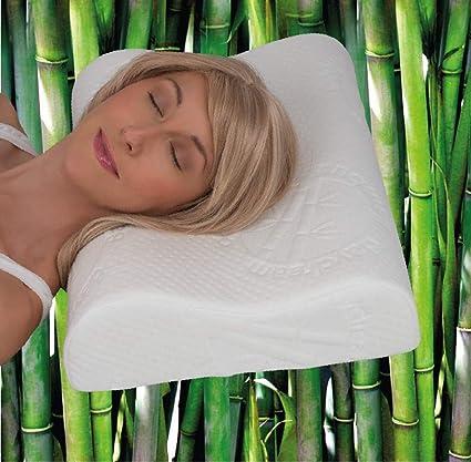 daydream Orthopädisches HWS Nackenstützkissen aus Memory Foam (P-16100) Bambus-Bezug, Kissen, Kopfkissen, Schlafkissen, Bettk