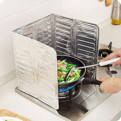 kicode aceite junta de guardia de gas estufa cocina aceite Splash sartén extraíble Caliente Cocina Herramienta