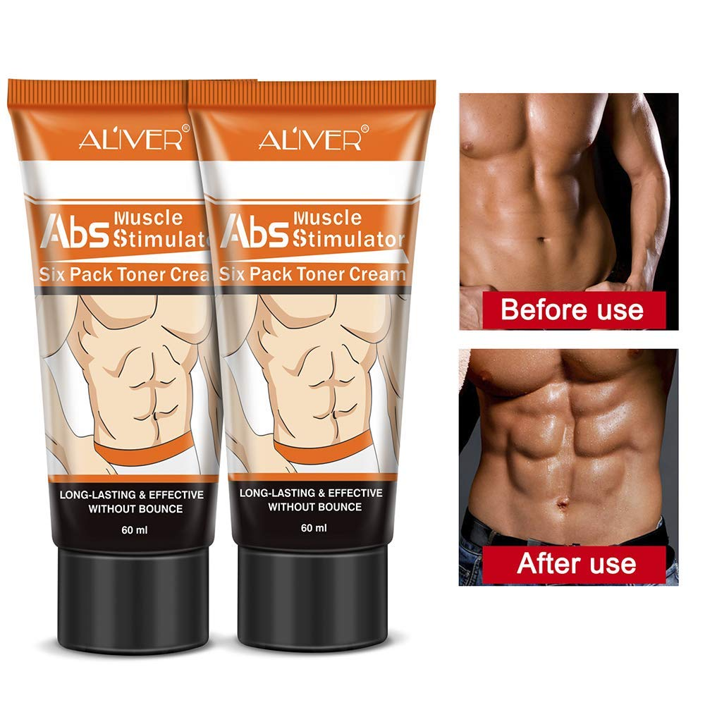 Hot Cream (2 Pack), Abdominal Cream– Belly for Women and Men Cellulite Removal Cream Fat Burner Six Pack Abs Muscle Stimulator Creams Leg Body Waist Effective Anti Cellulite Fat Burning 60ml