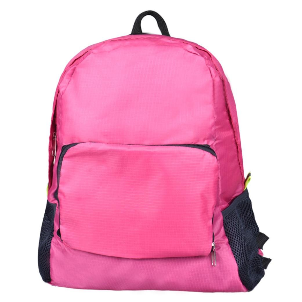 Pocciol Ultra Lightweight Backpack Durable Portable Travel Hiking Backpack Daypack for Women/Men 5 Colors Available (Hot Pink)