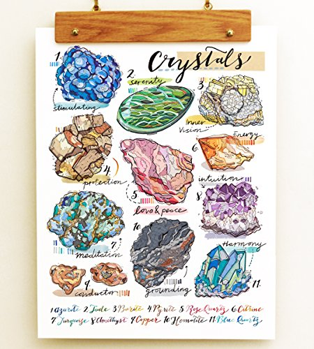 Crystals Print by LouPaper