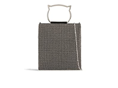 16d49966770 LeahWard Women s Diamante Clutch Bag Cross Body Handbag Wedding Night Out  Purse 2329 (Black)