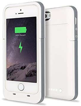 competitive price 56712 17f73 Slim iPhone 5S Charging Case,iPhone 5S SE Battery Case, ACOCOBUY Portable  External Power Bank Charging Case 2500 mAh Battery Case Backup Protective  ...