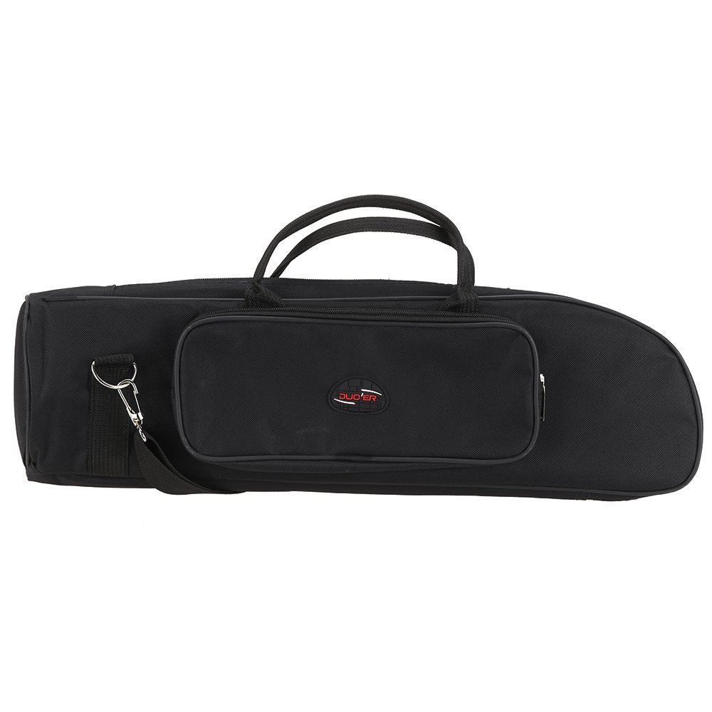 Andoer Twill Surface Trumpet Bag Case Thicken Padded Foam Non-woven Inner Cloth with Adjustable Shoulder Strap Pocket