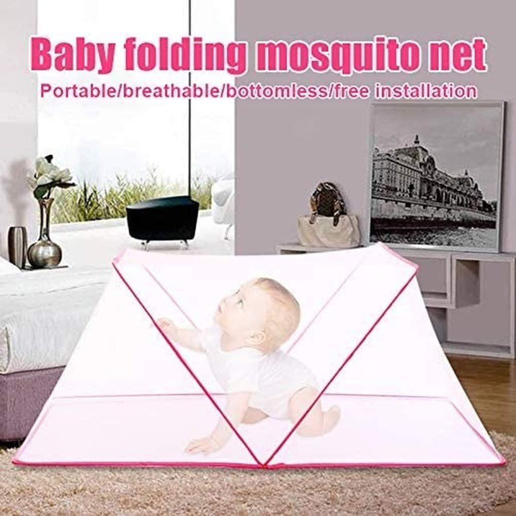 Foldable Mosquito Net Tent,Mosquito Net Bed Pop Up Double Door Anti Mosquito Bites for Bed Camping Travel Home Outdoor,Portable Dustproof Adults Baby Mosquito Net 180200cm//70.86 X 78.74 ,Blue