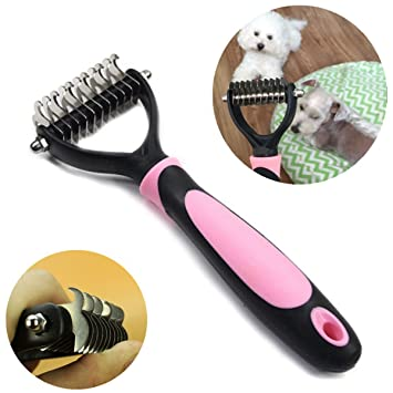 TIANOR Peine Cepillo Profesional Perro Gato para Aseo de Mascotas. Peine para Perros y Gatos Cepillo ...