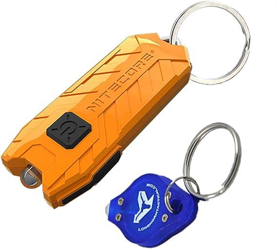 NITECORE TUBE V2.0 55 Lumen USB Rechargeable UltraLight Keychain Flashlight with LumenTac Keychain (Orange)