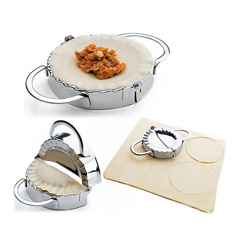 i-Auto Time Dumpling Maker, Stainless Steel Dumpling Maker and Dough Press for Home Kitchen, Dumpling Pie Ravioli Mold Mould Maker Pastry Tool for Cooking (Large Size)