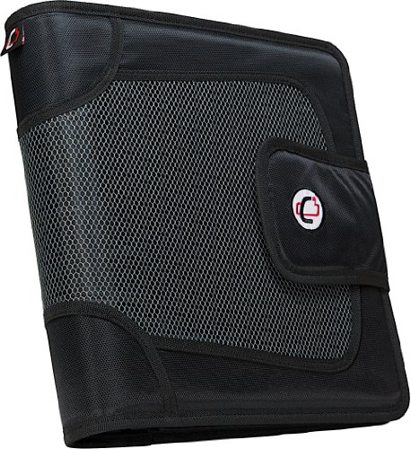 D-ring Flap - Case-it Open Tab Velcro Closure 2-Inch Binder with Tab File, Black, S-816-BLK