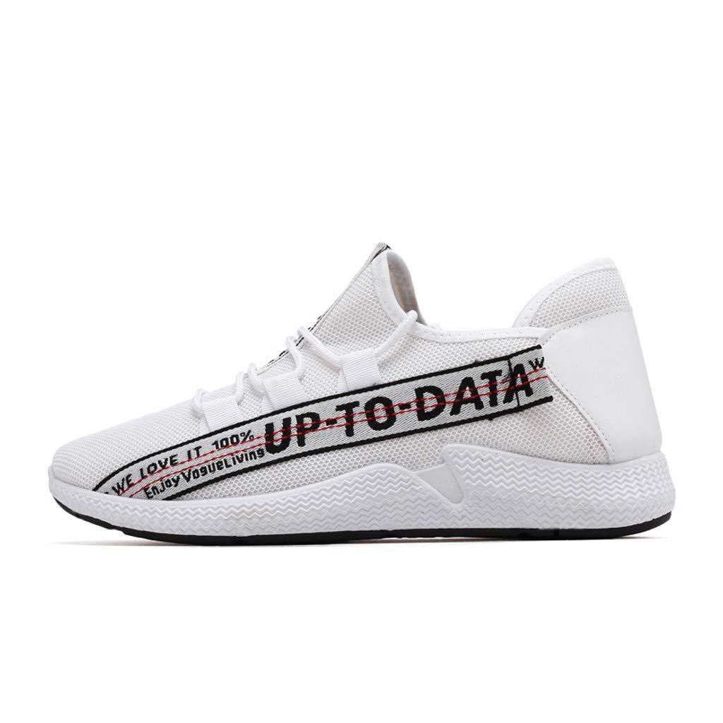 Outsta Men Women Kids Sneakers Running Shoes, Fashion Walking Shoes Lightweight Lace-up Sport Sneakers White