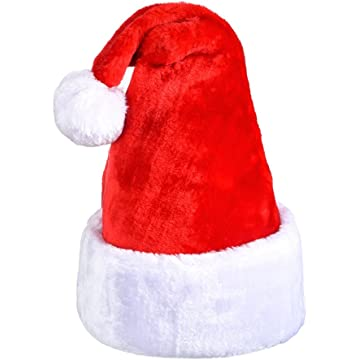4c44cd1b06077 Antner Santa Hat Thick Plush Christmas Hat Xmas Hat Fancy Hat Comfort and  Warm