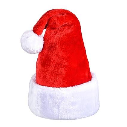 bd1e6837e23 Amazon.com  Antner Santa Hat Thick Plush Christmas Hat Xmas Hat Fancy Hat  Comfort and Warm  Toys   Games