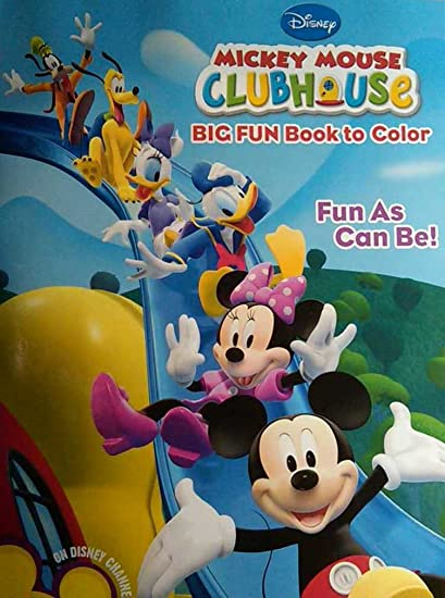- Disney Mickey Mouse Clubhouse Big Fun Book To Color - Fun As Can Be!:  Amazon.ca: Toys & Games