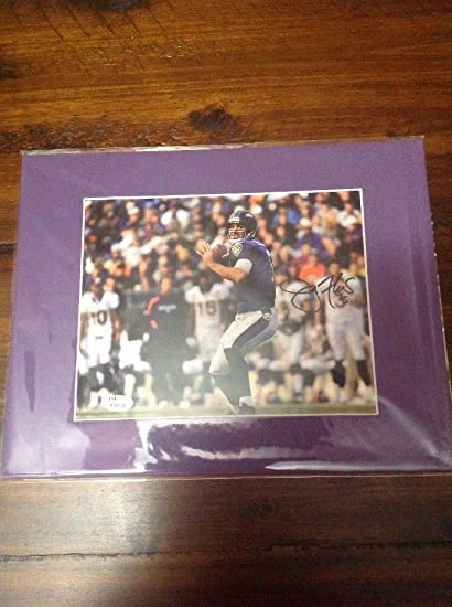 Image Unavailable. Image not available for. Color  Joe Flacco Balt. Ravens Autographed  Signed   Matted ... 4b276ac2d