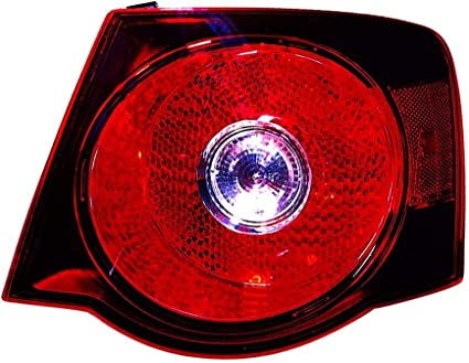 Go-Parts Sedan Driver Side - for 2008-2009 Volkswagen Jetta City Rear Tail Light Lamp Assembly // Lens // Cover 1K5 945 095 L VW2800127 Replacement Left