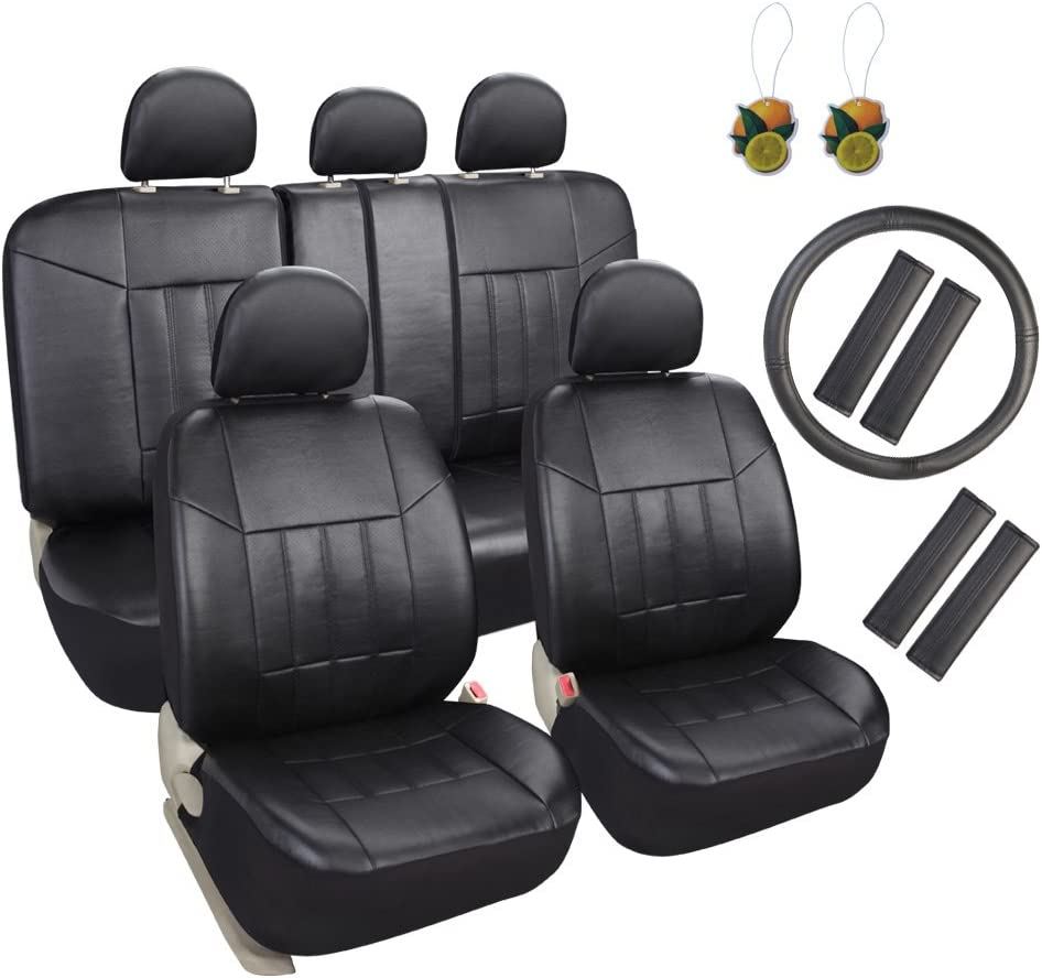13 Pieces For Nissan Grey Black Mesh Car Seat Covers W//Steering Wheel Cover