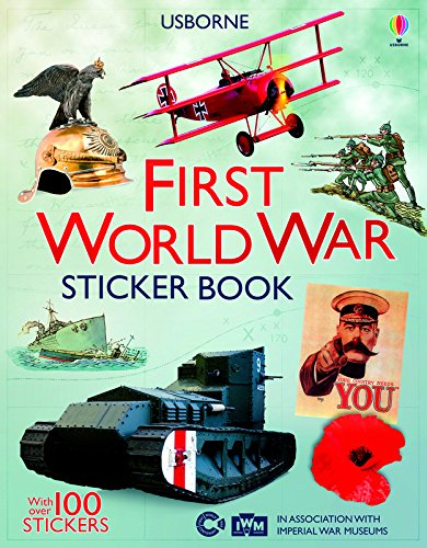 First World War sticker book (Anglais) Broché – 30 avril 2015 Struan Reid Ian Mcnee Usborne catalogue anglais 1409583899
