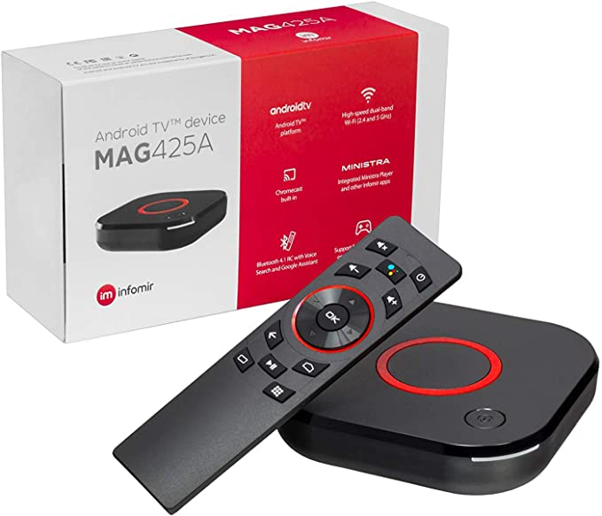 MAG425A Infomir 4K IPTV Set Top Box Android TV 8.0 Multimedia IPTV ...