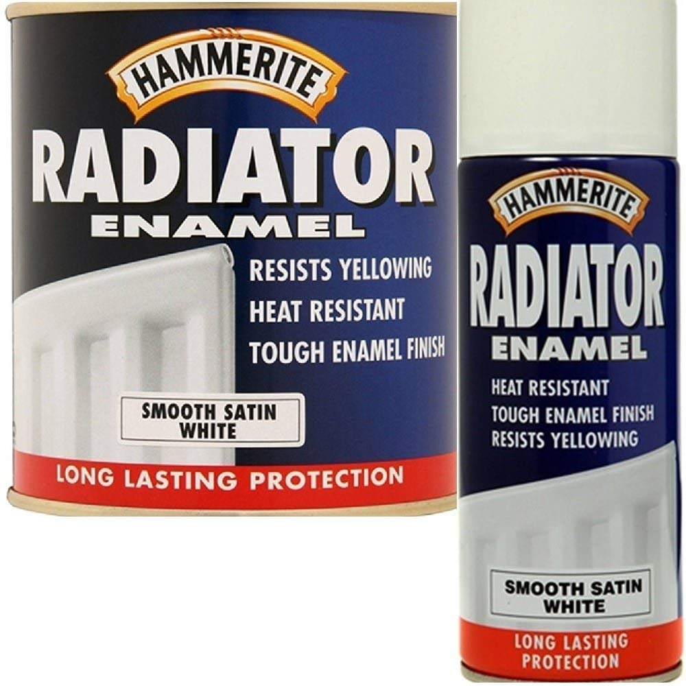 Hammerite 5084917 500ml Radiator Paint - Satin White B001GU8C3A