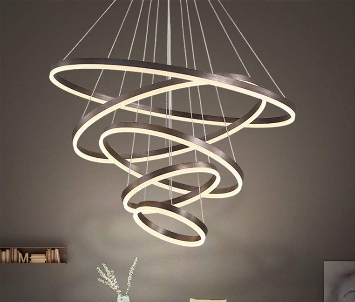 Details about New LED Modern Crystal Circle Ring Chandelier Pendant Ceiling Lighting 110 240V