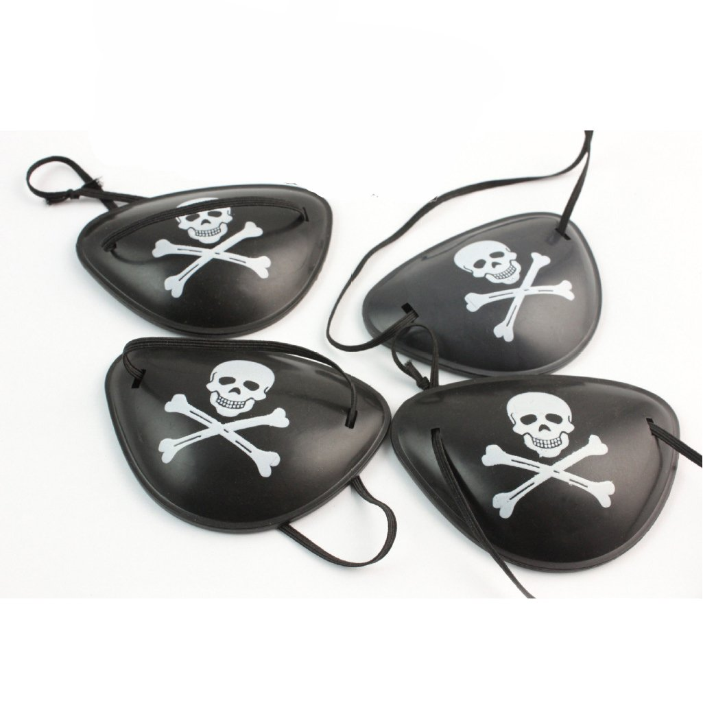 Paialco Pirate Eyepatch Costume Accessory Pack of 4 JAYP