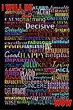 (24x36) I Will Be (Motivational List) Art Poster Print