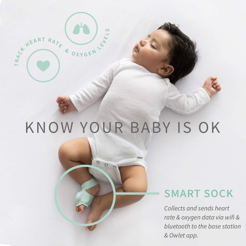 Amazon Com Owlet Smart Sock 2 Baby Monitor Green Baby
