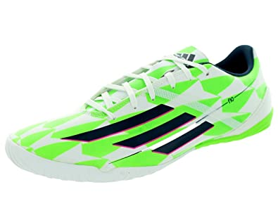 new style bc551 92db9 adidas Men s F10 in (Messi) Indoor Soccer Shoe (CWhite RicBlu SGreen