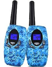 Upgrow 2X Walkie Talkies Kinder Funkgeräte Set 8 Kanäle 2-Wege Radio Walki Talki Funkhandy Interphone mit LCD Display, Kinder Speilzeug und Geschenk (Marineblau)