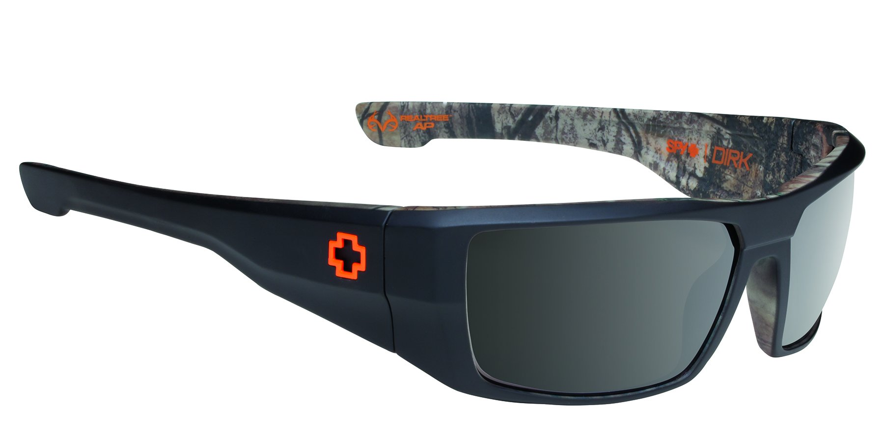 Spy Optic Dirk Polarized Wrap Sunglasses, Decoy/Black/Camo, 64 mm