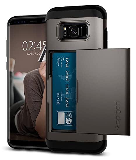 size 40 45c5f 0498a Spigen Slim Armor CS Designed for Samsung Galaxy S8 Plus Case (2017) -  Gunmetal
