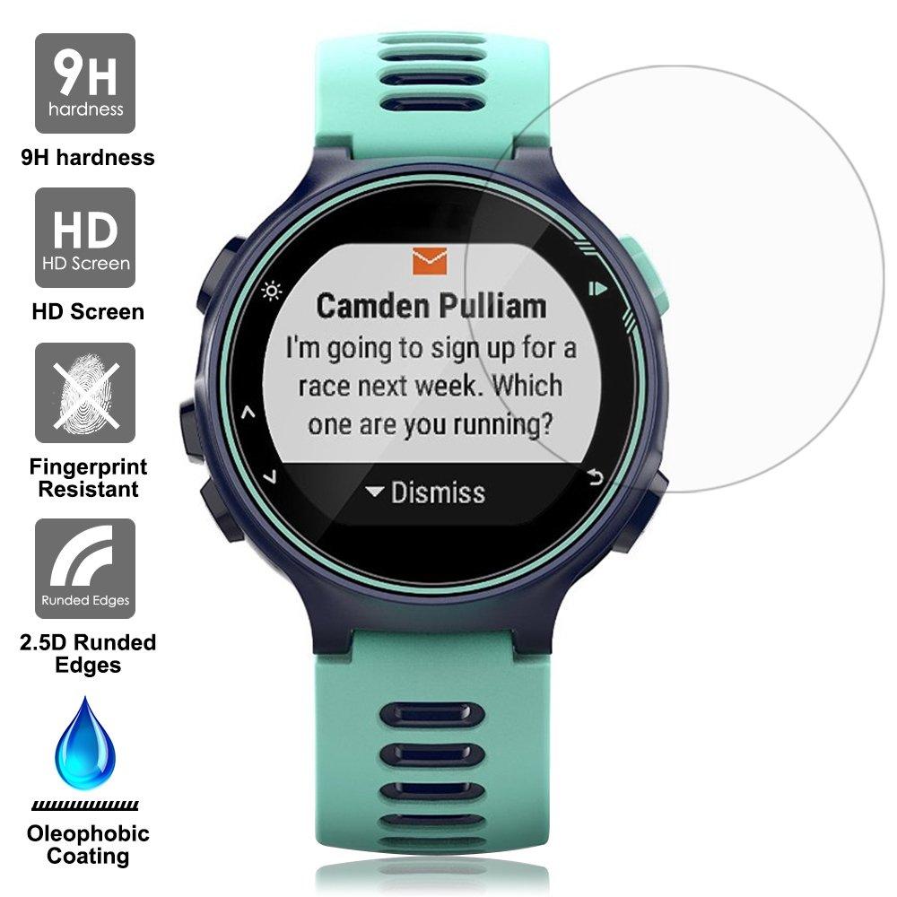 AFUNTA Films de Protection dEcran pour Garmin Forerunner 735XT Montre Connectée, 3 Paquets de Protecteur de Smartwatch en Verre Trempé Optique: Amazon.fr: ...