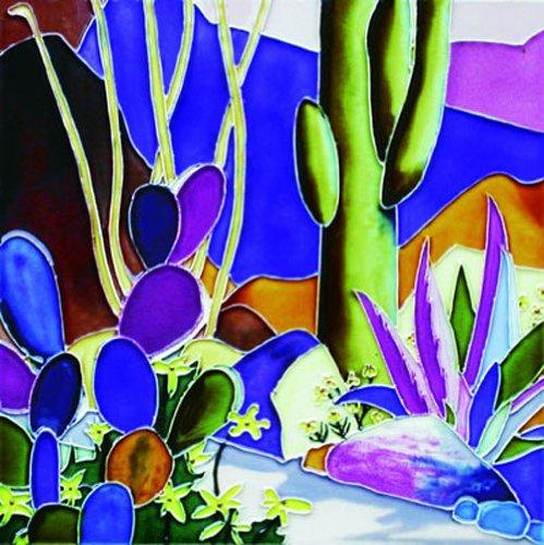 Cactus - Decorative Ceramic Art Tile - 8