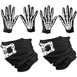 WYSUMMER Skull Face Mask and White Skeleton Gloves Bones Balaclava Christmas Ghost Gloves for Adult Men Women Halloween…