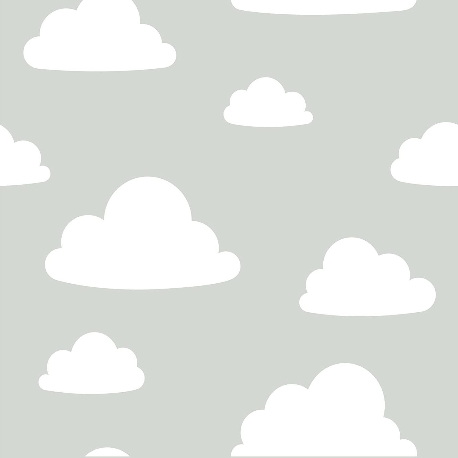 Brewster Home Clouds Grey Peel and Stick Wallpaper
