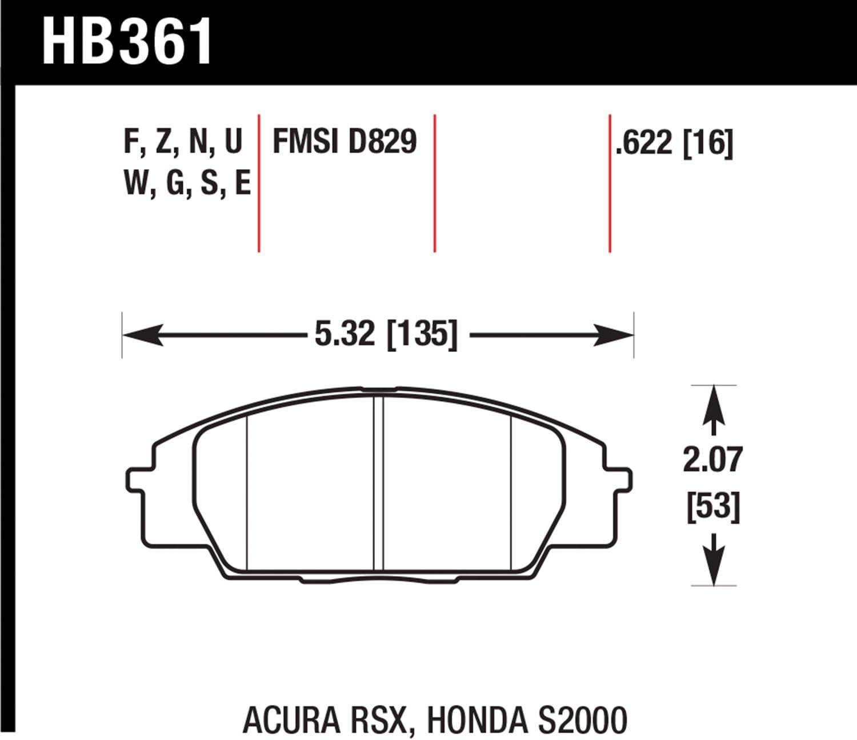 Hawk Performance HB361G.622 Disc Brake Pad Front