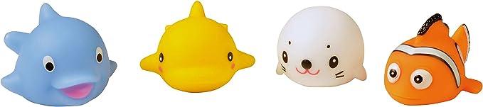 Badewannenspielzeug Wasser HEITECH LED Badespielzeug f/ür Baby /& Kinder Badewannen Wasserspielzeug Flamingo Badetiere leuchtend im 4er Pack Leuchtendes /& schwimmendes Badewanne Spielzeug