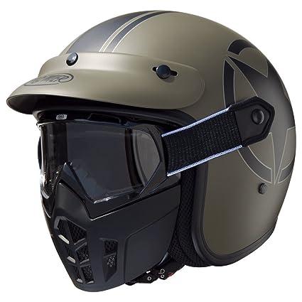 Amazon.es: Premier apjetmskfibsmm000l Casco Moto, L
