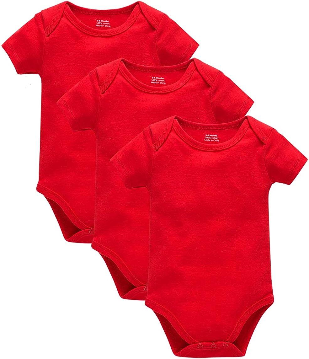 in morbido cotone 0-24 mesi 3 pezzi Body a maniche corte kavkas per neonati