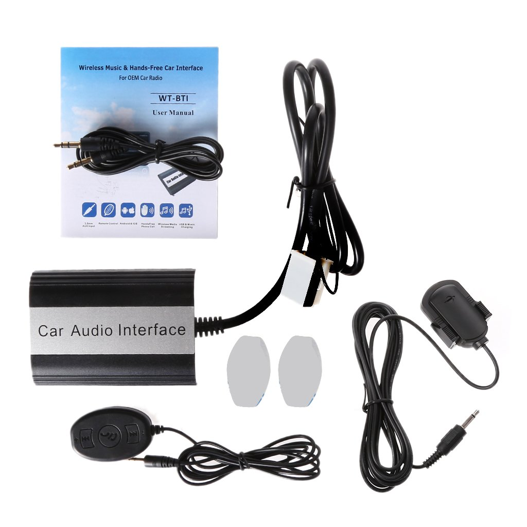 Amazon.com: Numkuda Car Stereo Bluetooth Kits For VW Audi Skoda Music  Hands-free Car Interface Aux Adapter Wireless Music Receiver AUX USB  Interface: ...