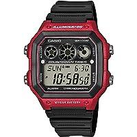CASIO 系列男式数码手表树脂带–ae-1300wh