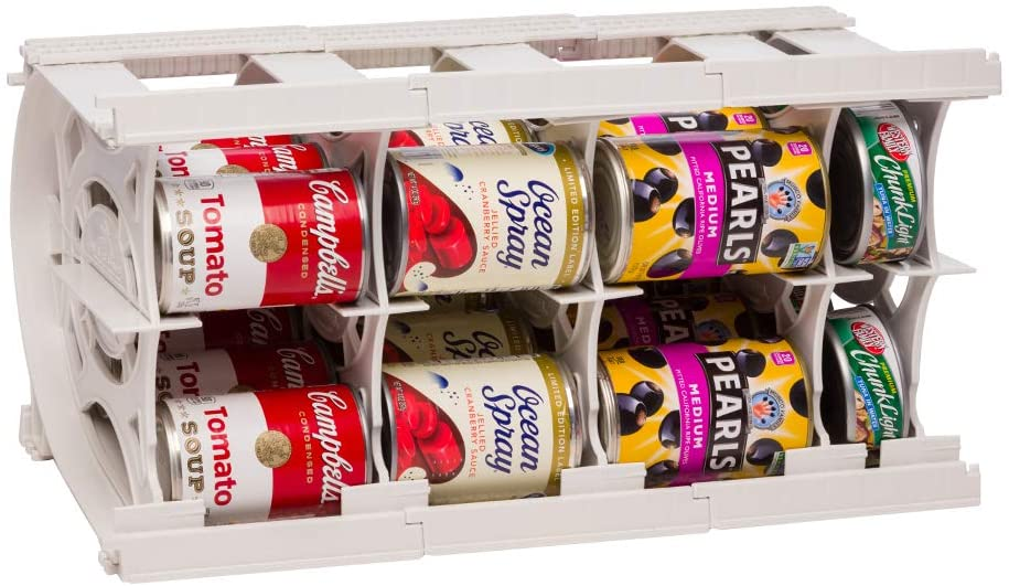 Shelf Reliance Pantry Can Organizers - Customizable Can Lengths - First In First Out Rotation - Designed for Canned Goods for Cupboard, Pantry and Cabinet - Food Storage - Made in USA - Up to 20 Cans