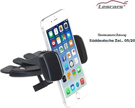 Lescars Handyhalter Cd Kfz Smartphone Halterung Für Elektronik