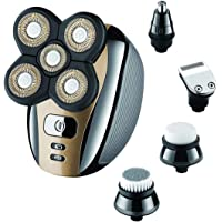 Electric Shaver for Men & Grooming Kit, Geecol 5 Head Rotary Shavers Cordless USB Rechargeable 4d Electric Razor 5 in 1…