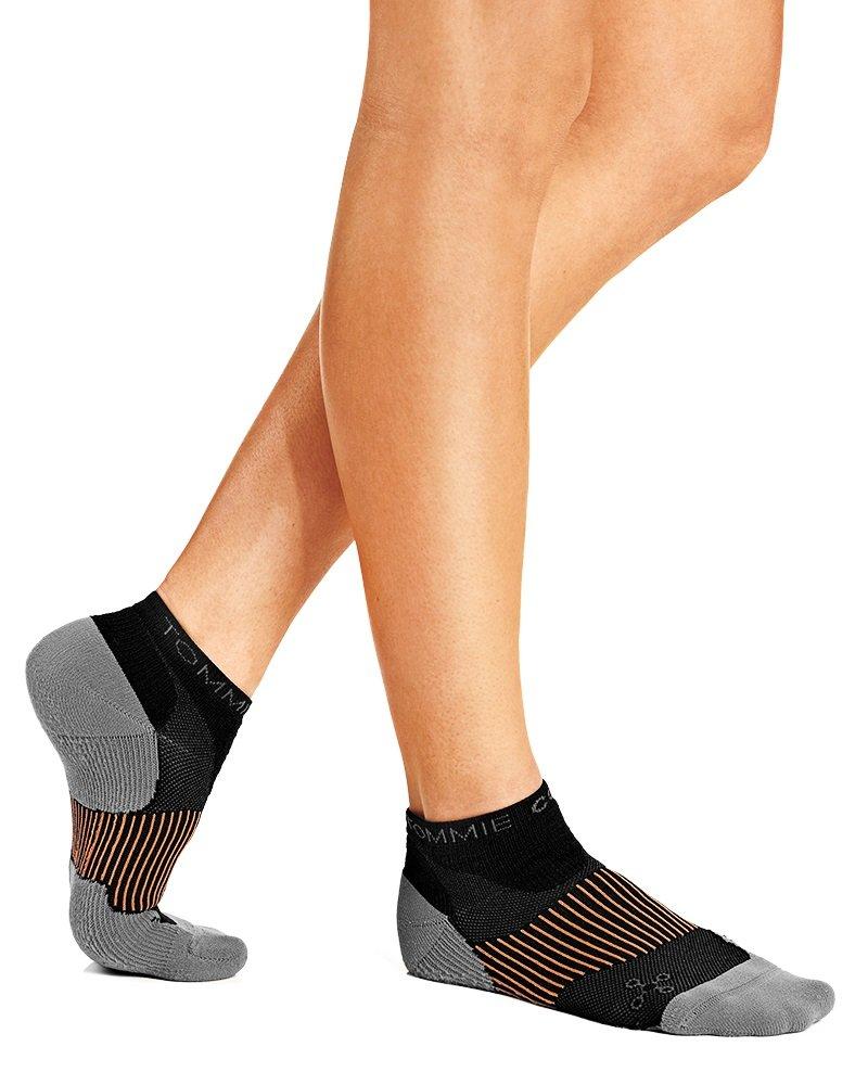 Tommie Copper Women's Agility Ankle Socks, 4-6.5, Black