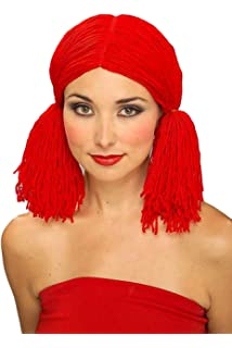 Forum Rag Doll Wig, Red, One Size