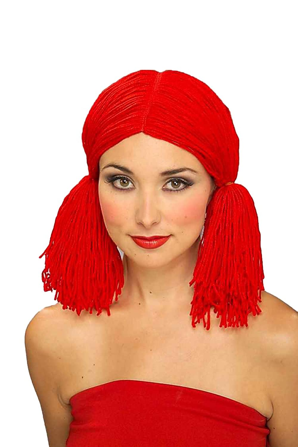 amazon com forum rag doll wig red one size clothing